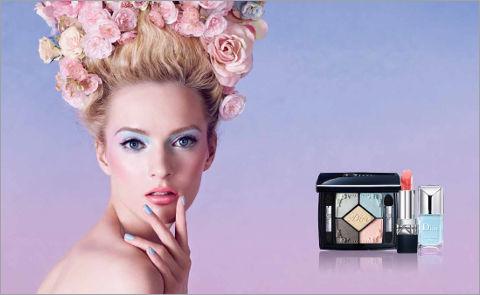 Пастельный макияж от Dior.