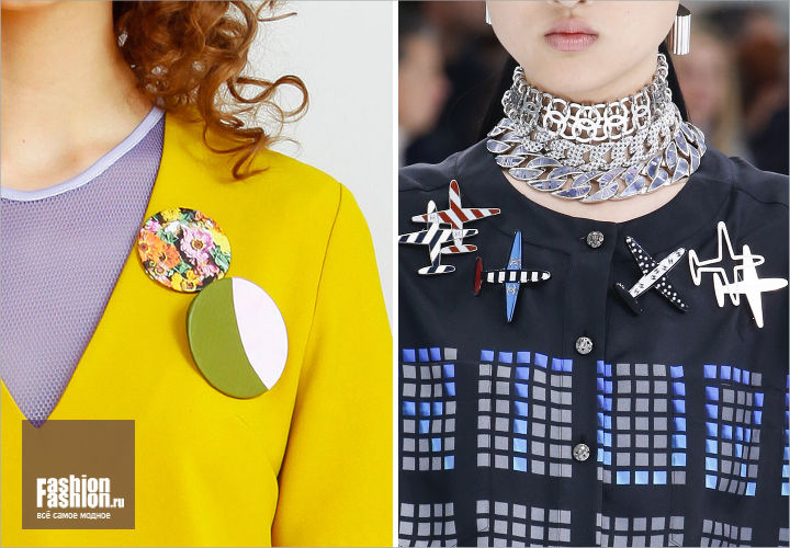 How to wear brooches set?