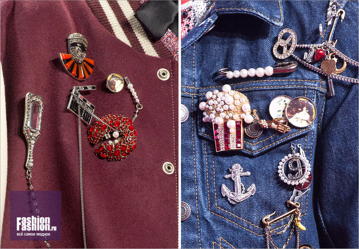 set of pins: Marc Jacobs