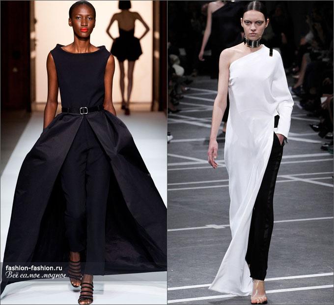 Платье с брюками