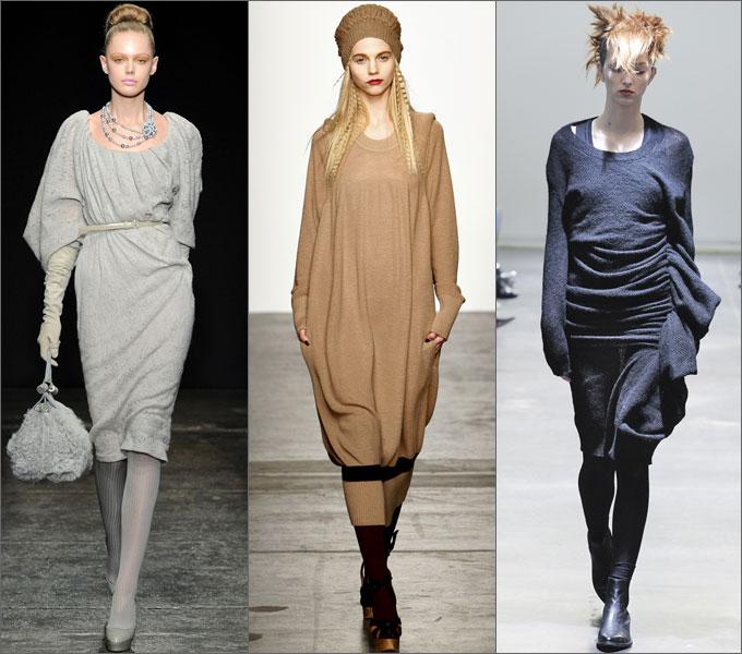 модные трикотажные платья 2012.