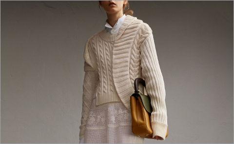 Асимметричные свитеры и свитшоты от Burberry