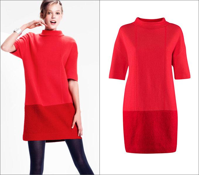 Комбинированные платья две ткани