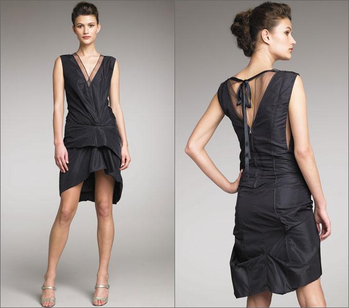 Характерные элементы вечерних платьев в стиле Art Deco: - заниженная...