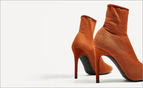 Обувь стретч: ботильоны-носки
