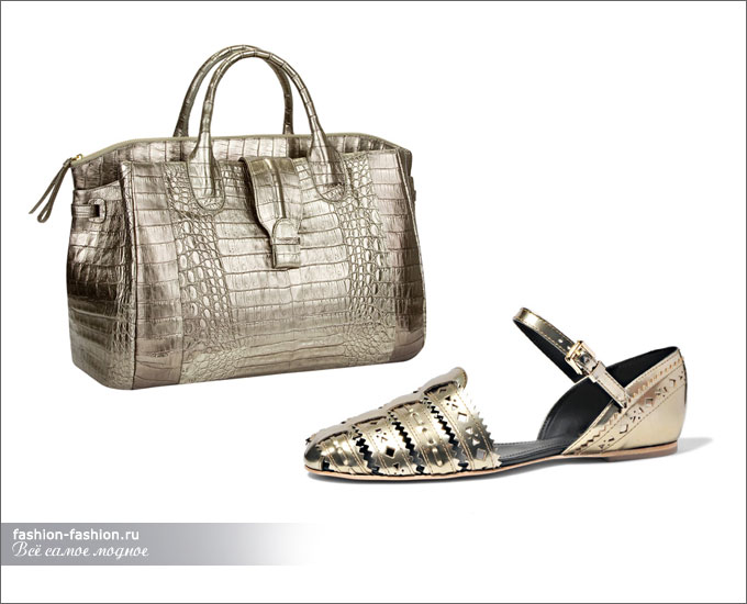 Сумка Nancy Gonzalez, сандалии Tod's
