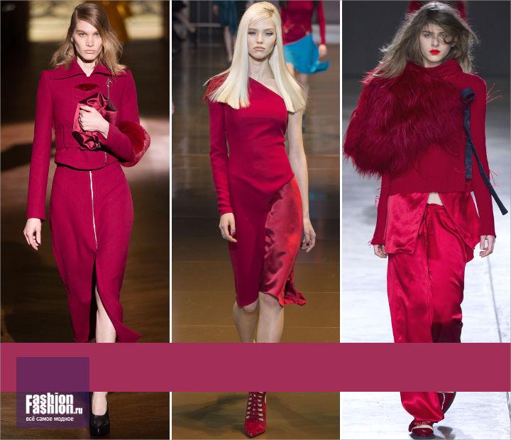 Красный цвет модный