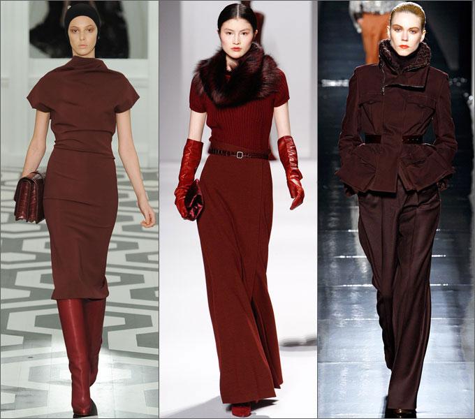 Сочетание одежды в сезоне осень-зима 2011-2012 Bordeaux