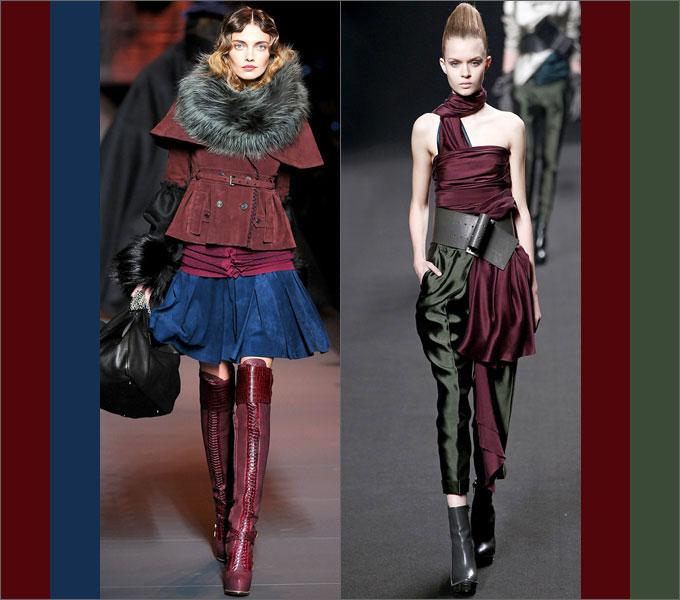Сочетание одежды в сезоне осень-зима 2011-2012 Bordeaux1