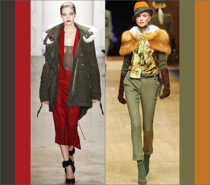 Сочетание одежды в сезоне осень-зима 2011-2012 Green1