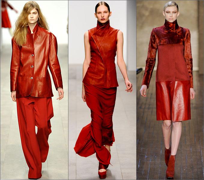 Сочетание одежды в сезоне осень-зима 2011-2012 Red