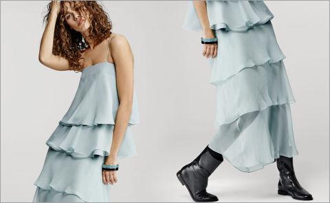 Модный тренд: воланы и оборки
