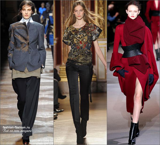 9. Уже привычный тренд – укороченные брюки – стал классикой. Теперь  осмельтесь на нетрадиционные цвета и расцветки. 555eb0c5376