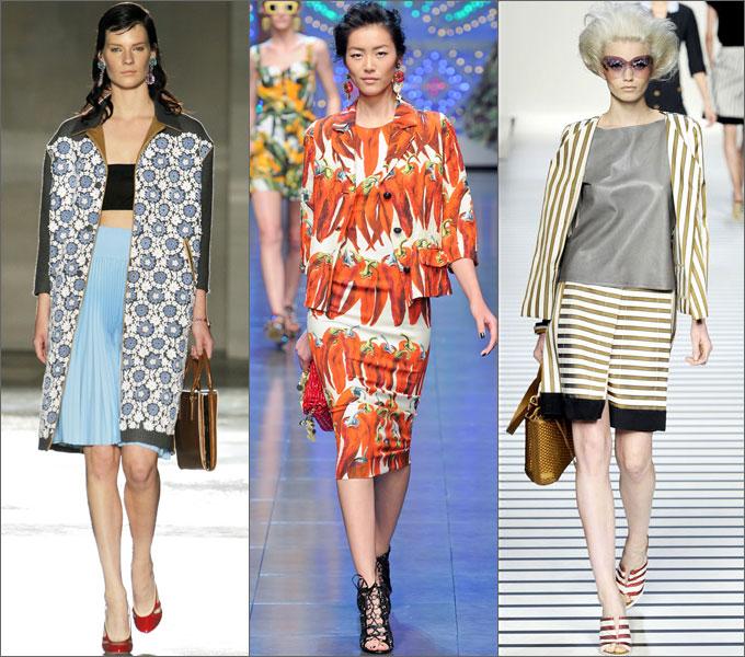 Модные тенденции в одежде сезона весна-лето 2012