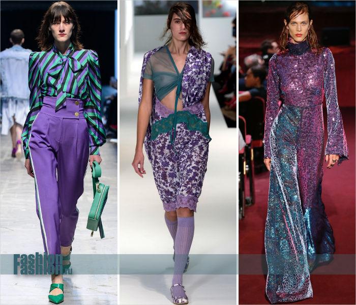 Цвет Pantone Ultra Violet в сочетании с Arcadia