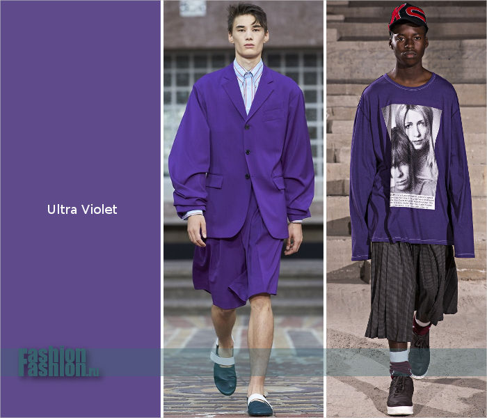 Цвет года Ультрафиолет в мужских коллекциях